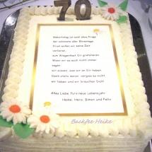 Geburtstagstorte 70